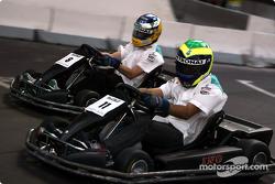 Go-kart con Felipe Massa y Nick Heidfeld