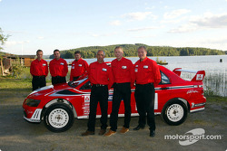 Launch of the Mitsubishi Lancer Evolution WRC2: François Delecour, Alister McRae and Jani Paasonen