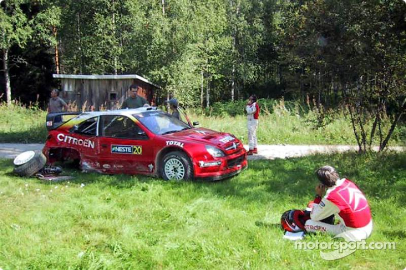 Thomas Radstrom tras el accidente