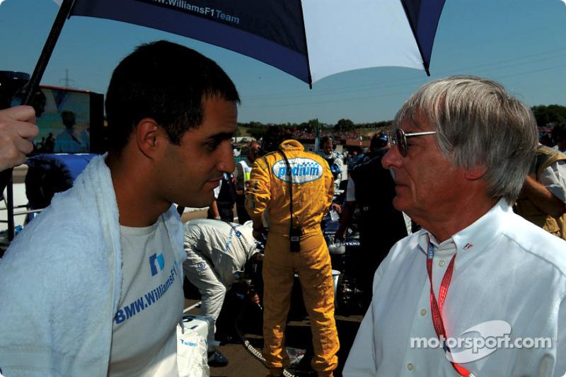 Juan Pablo Montoya y Bernie Ecclestone
