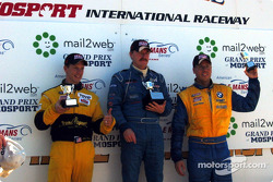 The podium: race winner Paul Bonaccorsi, Mike Fitzgerald and Will Turner