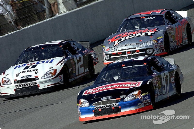 Kurt Busch, Ryan Newman y Sterling Marlin