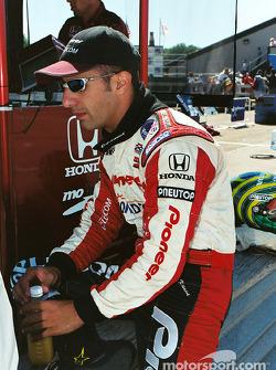 Tony Kanaan on the pit wall