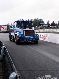 Super truck enters pit lane