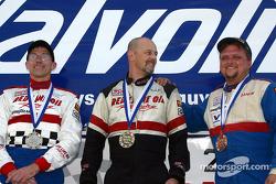 The podium: race winner Mark Jaremko, with Michael Reupert and Damon Anderson