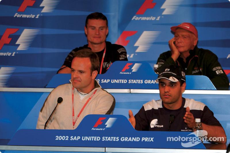 Conferencia de prensa FIA del jueves: Rubens Barrichello, Juan Pablo Montoya, David Coulthard y Niki