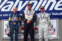 The podium: race winner Joe Huffaker with Doug Peterson and Jay Iliohan