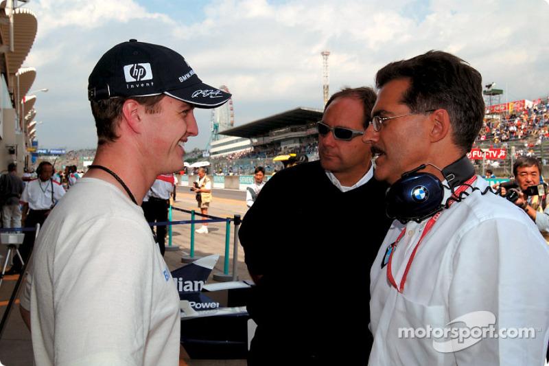 Ralf Schumacher, Gerhard Berger y Mario Theissen