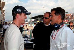 Ralf Schumacher, Gerhard Berger and Mario Theissen