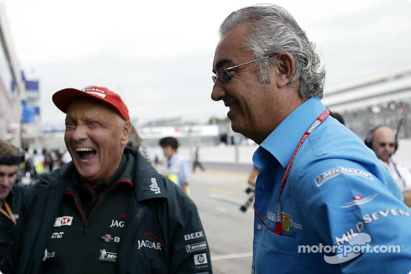 Niki Lauda and Flavio Briatore