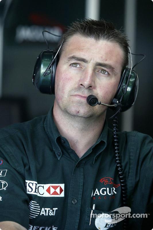 El jefe de mecánicos de Eddie Irvine, Alan Maybin