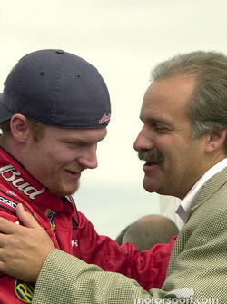 Dale Earnhardt Jr. with the President of Martinsville Speedway