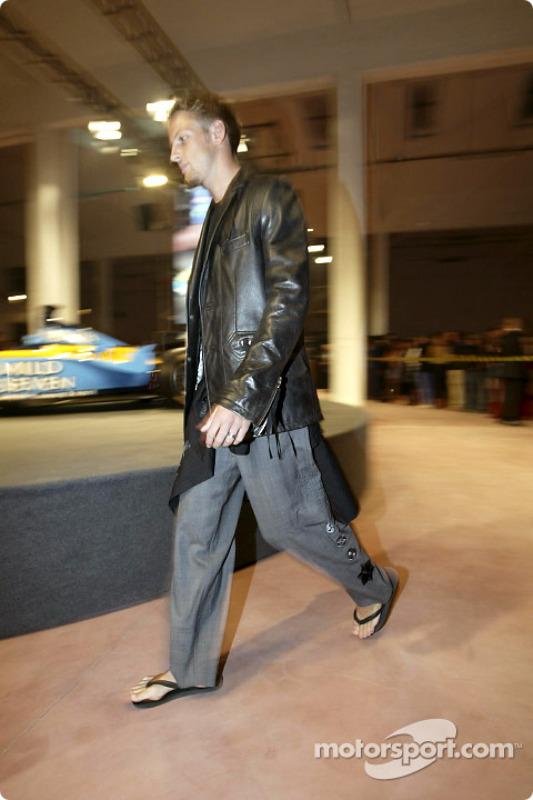 Spoon/Mild Seven RenaultF1 Media Party: Jenson Button