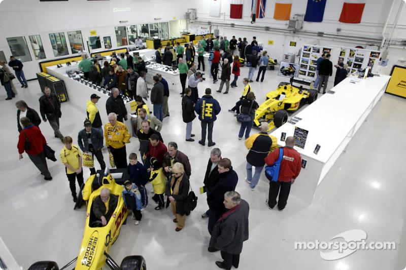 Jordan fans visit the Fordan Grand Prix factory