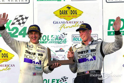 The podium: race winners James Weaver and Chris Dyson