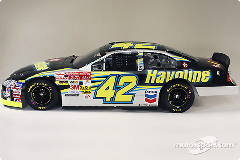 The 2003 Havoline Dodge that Jamie McMurray will drive in the 2003 NASCAR Winston Cup Series at ...
