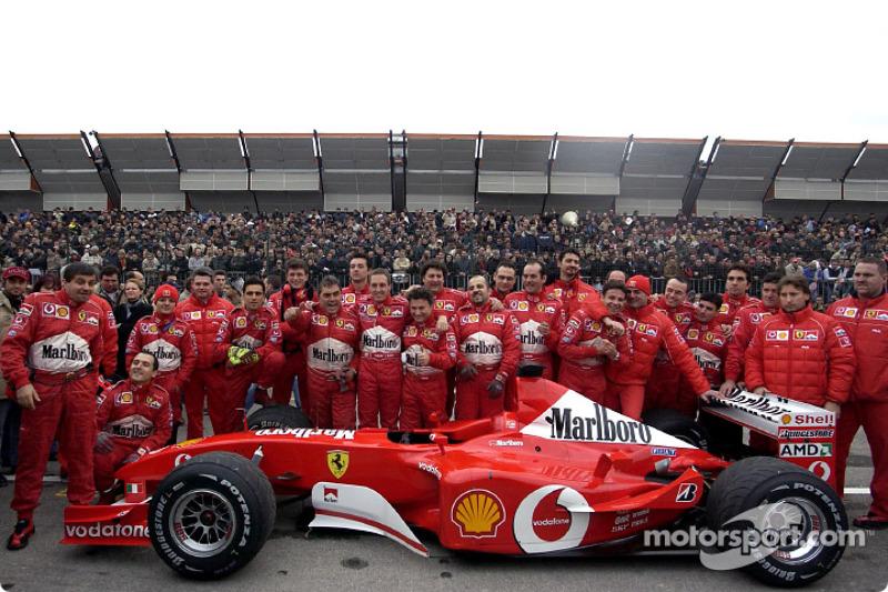 Luciano Burti with the Ferrari team