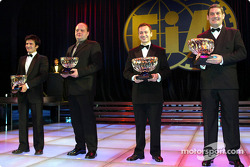 Winning N-GT Driver, Stéphane Ortelli, winning N-GT Team, Manfred Freisinger, winning GT Team, Jack Lecomte, Larbre Competition