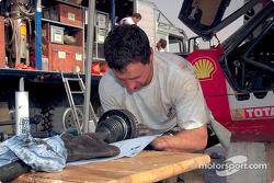 Volkswagen Racing crew member