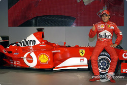 Felipe Massa with the new Ferrari F2003-GA