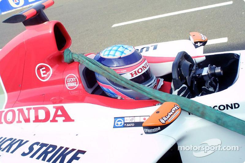 Takuma Sato back on pitlane