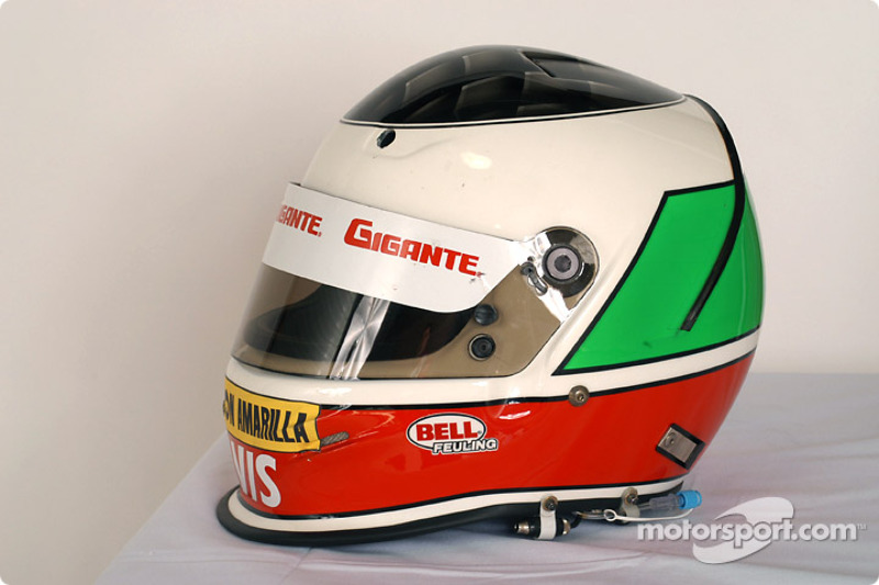 Casque de Michel Jourdain Jr.