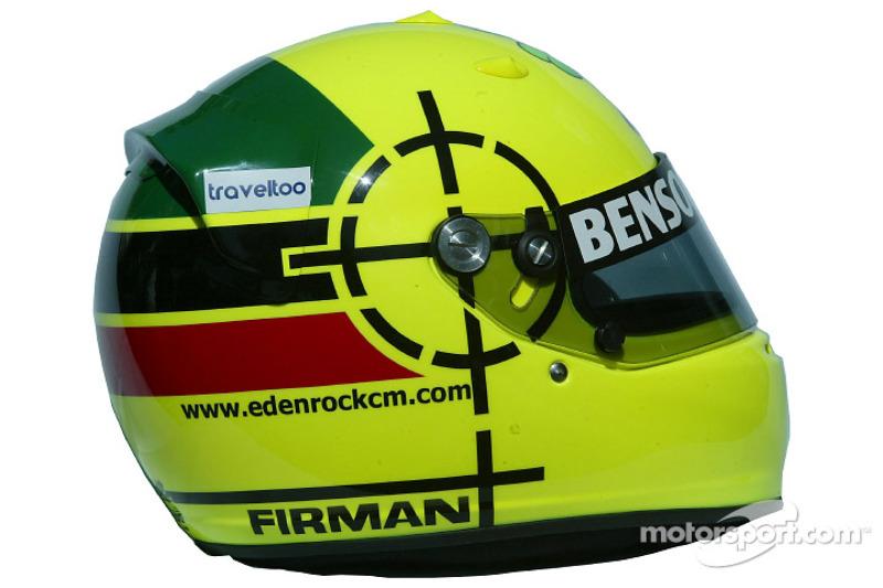 Ralph Firman's helmet