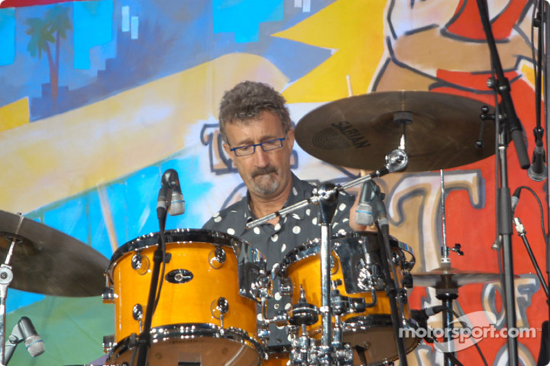 Eddie Jordan on drums at the Grand Prix Ball