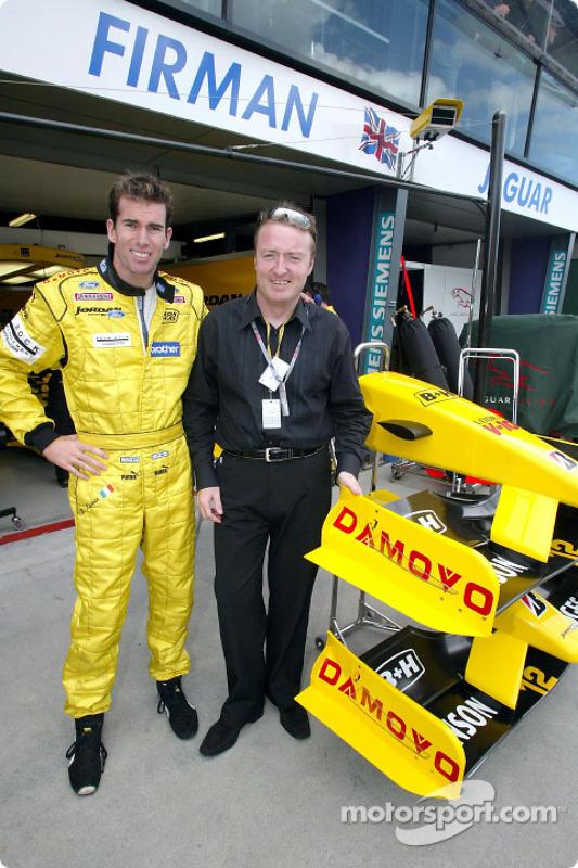 Ralph Firman and Damovo representative