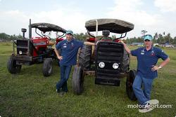 Visit, Paddy fields (rice fields) Alor Setar: Heinz-Harald Frentzen ve Nick Heidfeld