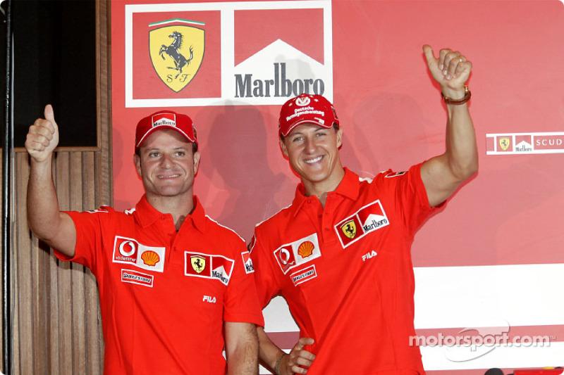 Press conference: Rubens Barrichello and Michael Schumacher