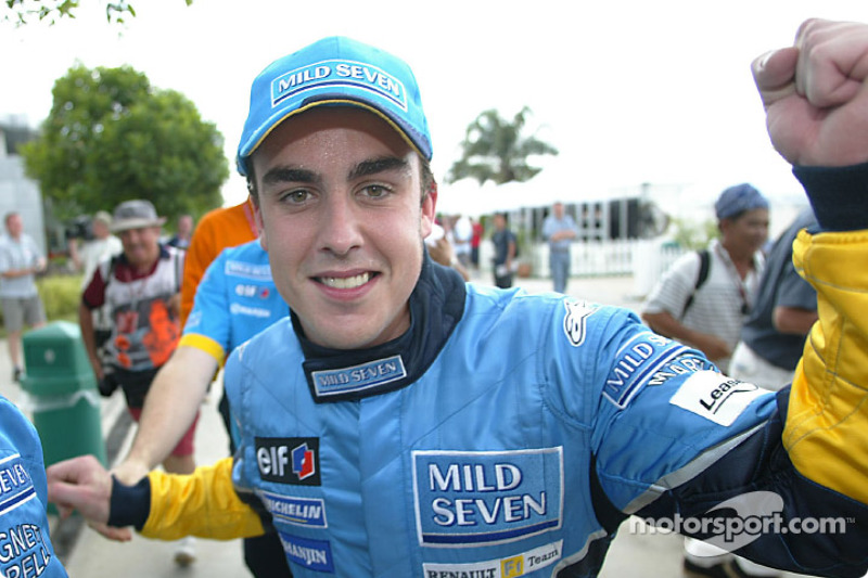 Pole winner Fernando Alonso