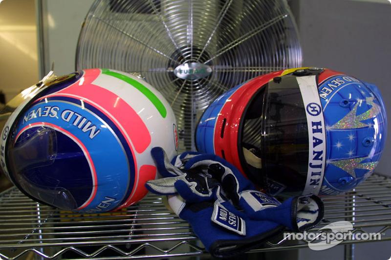 First row helmets
