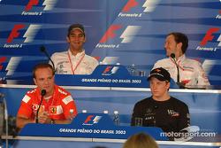 Thursday press conference: Rubens Barrichello, Kimi Raikkonen, Antonio Pizzonia and Cristiano da Matta