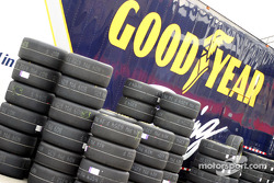Stacks of Good Year tires
