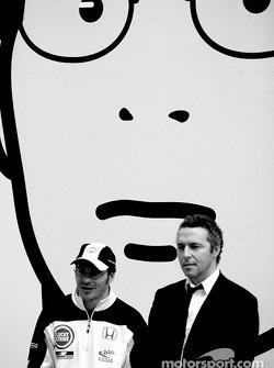 British artist Julian Opie brings together Art and Formula 1 racing: Jacques Villeneuve and Julian Opie
