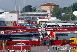 Paddock at Circuit de Catalunya