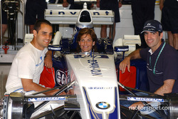 Juan Pablo Montoya, Arantxa Sanchez and Marc Gene