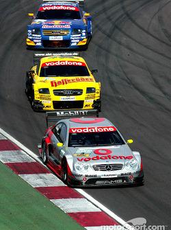 Bernd Schneider, Team HWA, AMG-Mercedes CLK-DTM 2003; Laurent Aiello, Abt Sportsline, Abt-Audi TT-R 2003; Mattias Ekström, Abt Sportsline, Abt-Audi TT-R 2003