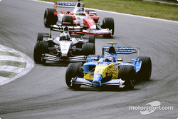Jarno Trulli and David Coulthard