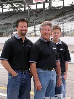 Michael, Mario and Marco Andretti
