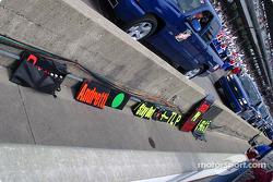 Michael Andretti's pit board