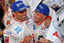 Race winners J.J. Lehto and Johnny Herbert