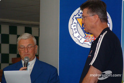 Le Mans awards ceremony: Michel Cosson presents Herb Fishel with the Spirit of Le Mans award