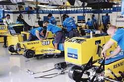 Renault F1 garage area