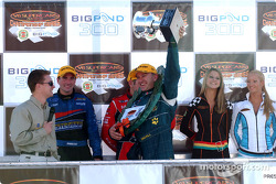 Russell Ingall celebrates his first win after a drought since Winton 2001
