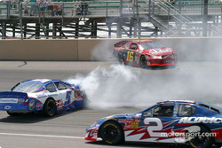Brian Vickers and Larry Gunselman spin