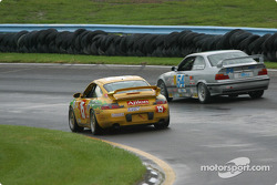 #15 TPC Racing Porsche Carrera: John Beaver, George Smith, and #54 Bell Motorsports BMW M3: Terry Borcheller, Forest Barber