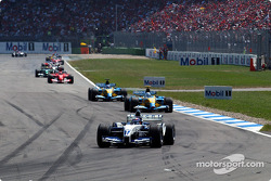 Juan Pablo Montoya leads the field