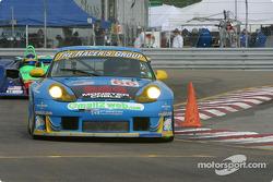 la Porsche GT3 RS n°66 de l'équipe The Racers Group pilotée par Kevin Buckler, Cort Wagner
